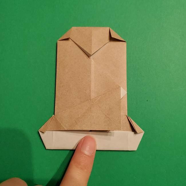 ポケモン(ポケットモンスター)折り紙のディグダの折り方作り方(30)