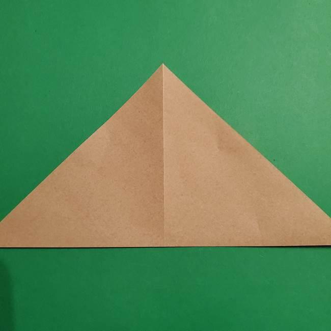 ポケモン(ポケットモンスター)折り紙のディグダの折り方作り方(4)