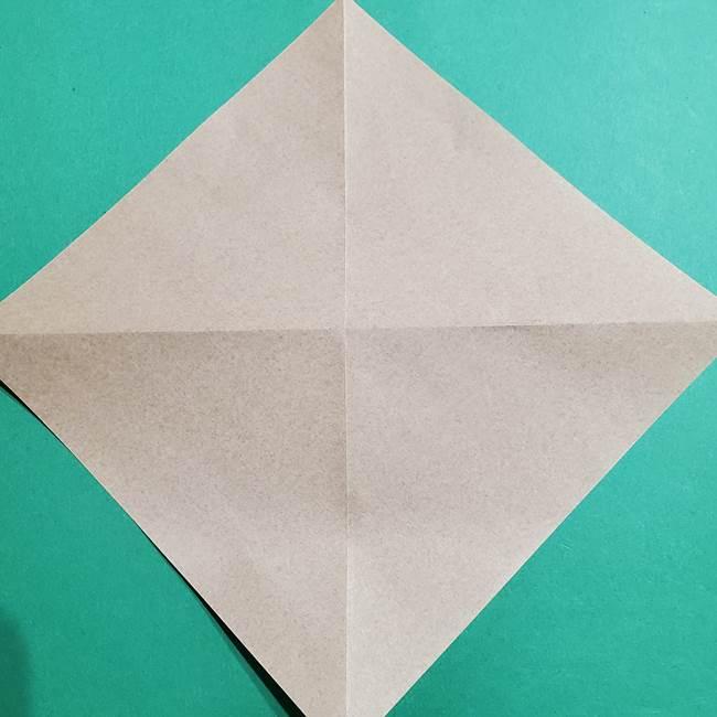 ポケモン(ポケットモンスター)折り紙のディグダの折り方作り方(5)