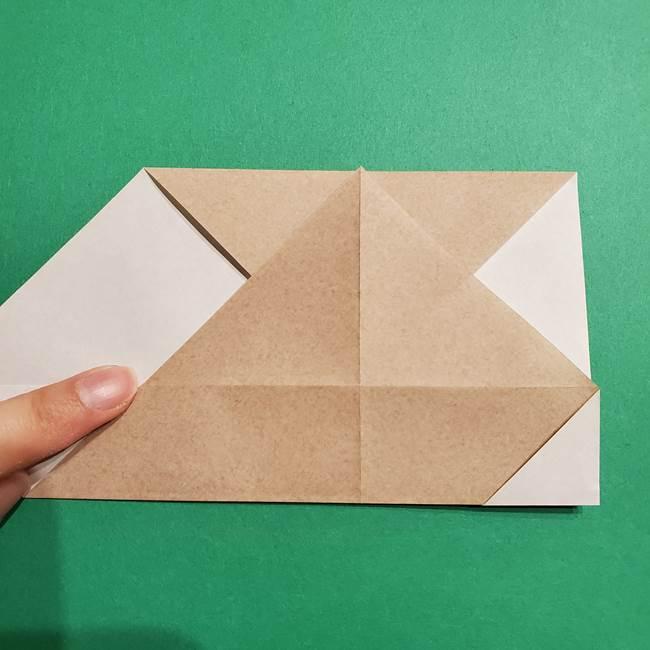 ポケモン(ポケットモンスター)折り紙のディグダの折り方作り方(9)