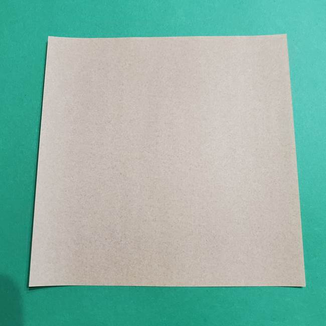 ポケモン折り紙 ディグダに必要なものと材料(1)