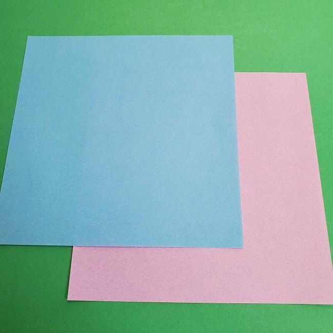 ポケモン 折り紙のゲッコウガ*用意するもの (1)