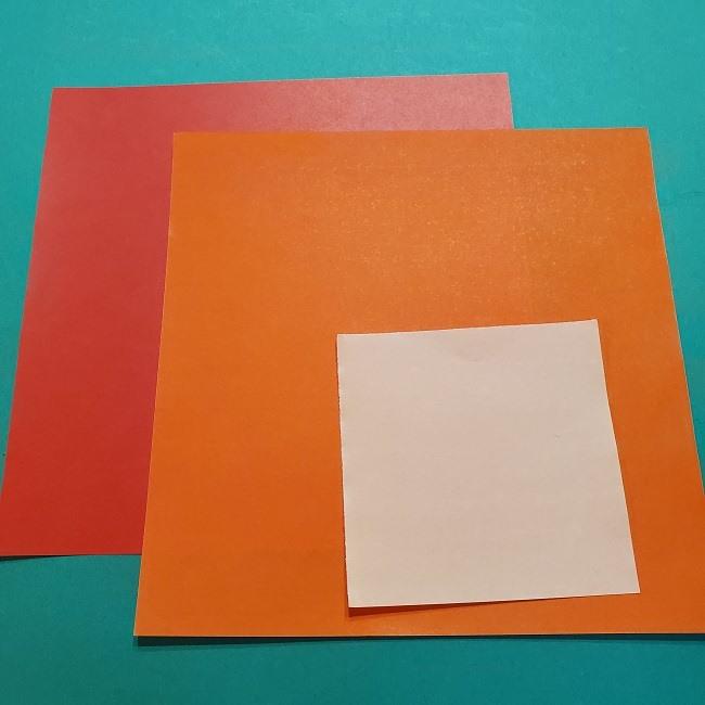 ポニョの折り紙の作り方*用意する折り紙 (1)