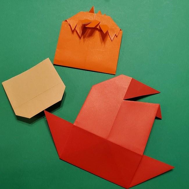ポニョの折り紙 簡単な作り方折り方完成 (1)