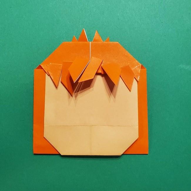 ポニョの折り紙 簡単な作り方折り方完成 (2)