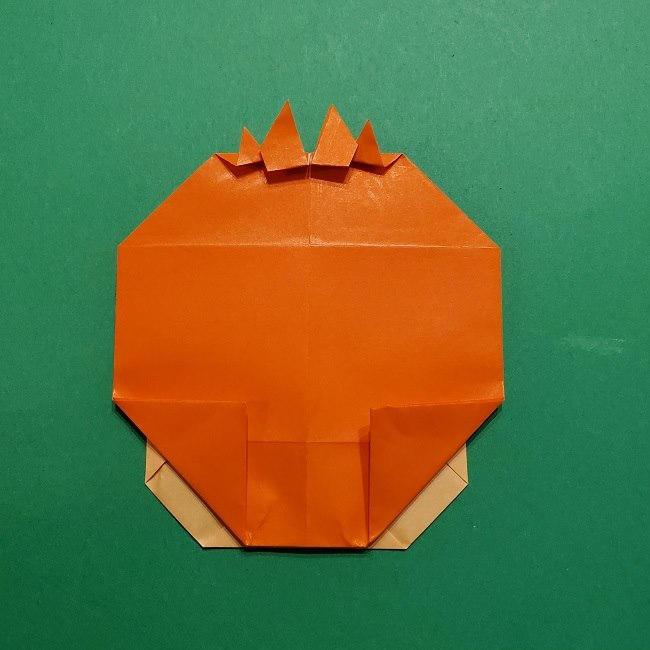 ポニョの折り紙 簡単な作り方折り方完成 (4)