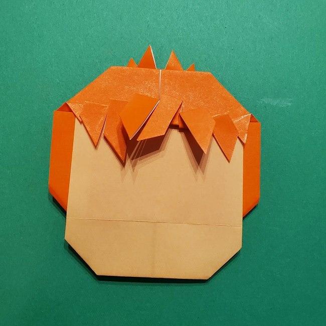 ポニョの折り紙 簡単な作り方折り方完成 (5)