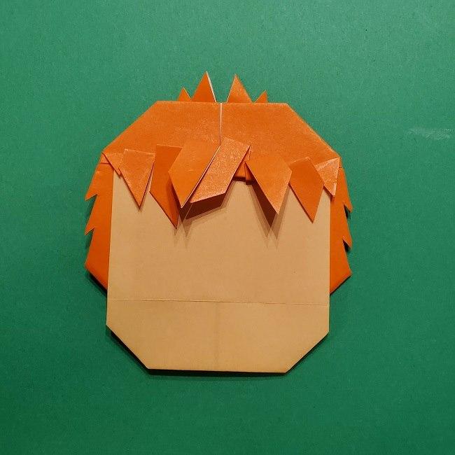 ポニョの折り紙 簡単な作り方折り方完成 (7)