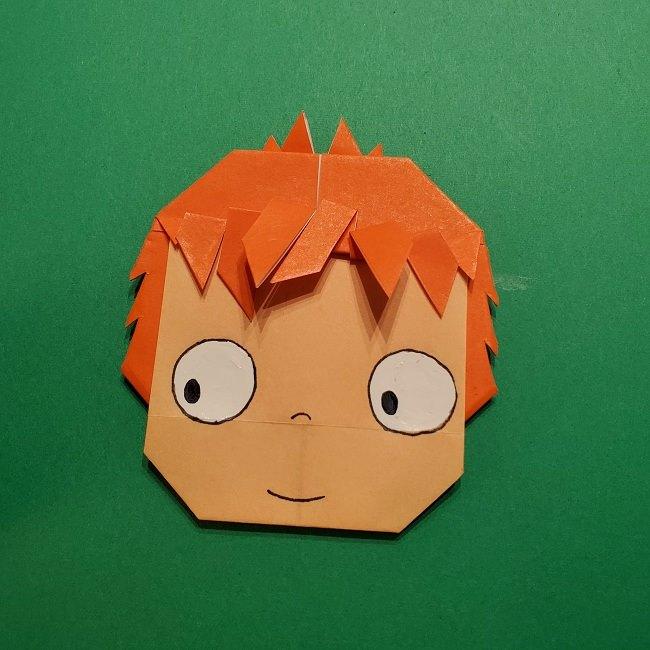 ポニョの折り紙 簡単な作り方折り方完成 (8)