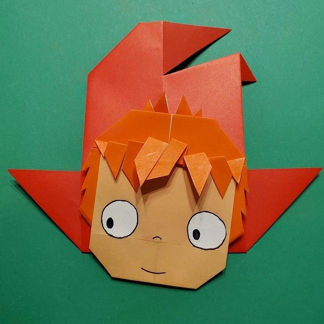 ポニョの折り紙 簡単な作り方折り方完成 (9)