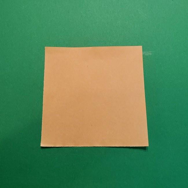 ポニョの折り紙 簡単な作り方折り方1顔 (1)