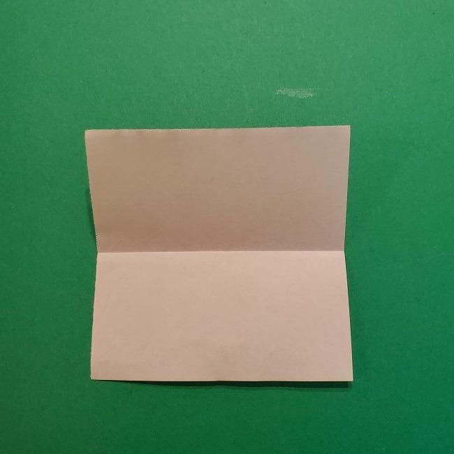 ポニョの折り紙 簡単な作り方折り方1顔 (3)