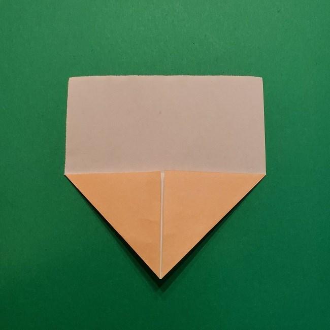 ポニョの折り紙 簡単な作り方折り方1顔 (4)