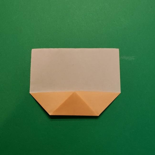 ポニョの折り紙 簡単な作り方折り方1顔 (5)