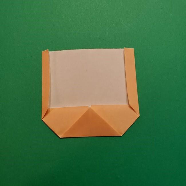ポニョの折り紙 簡単な作り方折り方1顔 (6)