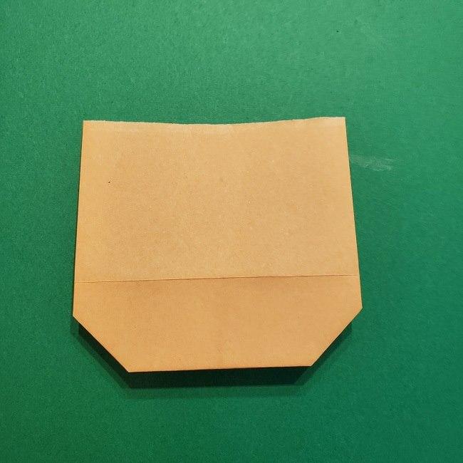 ポニョの折り紙 簡単な作り方折り方1顔 (7)