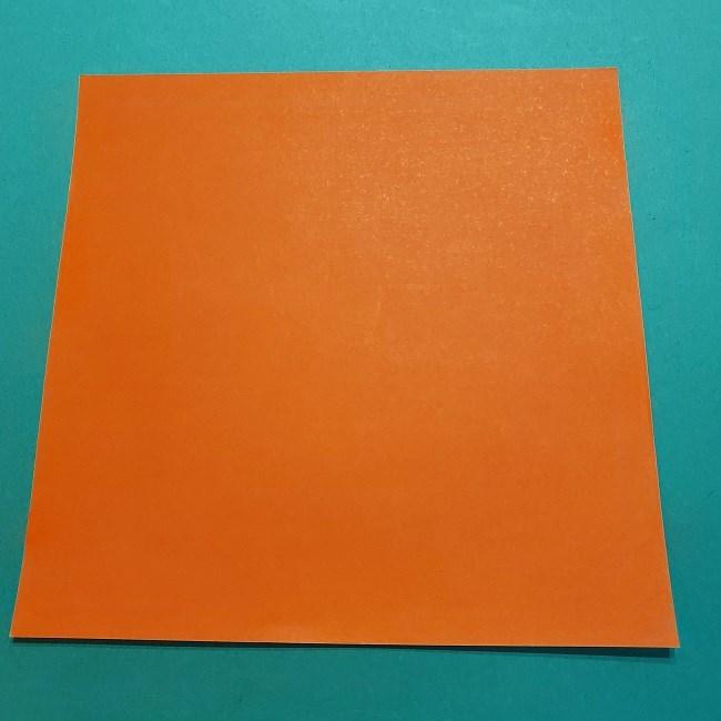 ポニョの折り紙 簡単な作り方折り方2髪 (1)