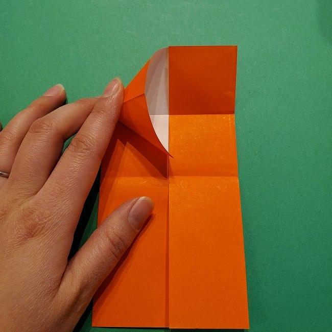 ポニョの折り紙 簡単な作り方折り方2髪 (10)