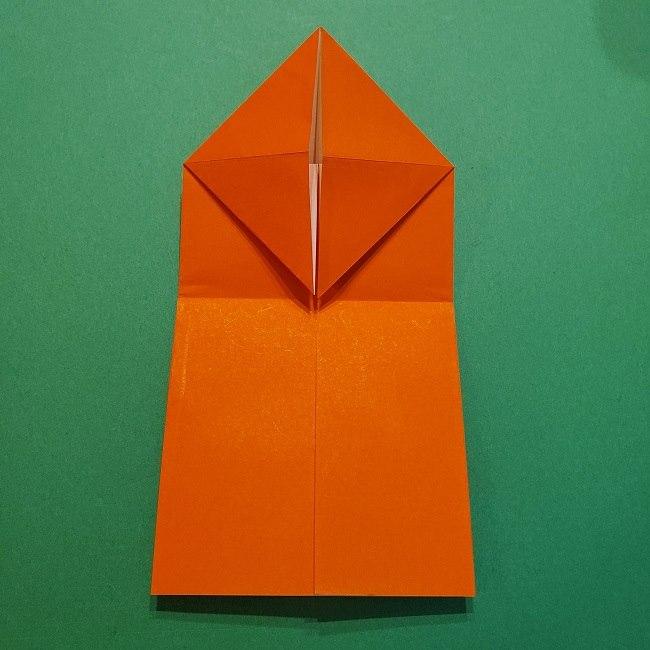 ポニョの折り紙 簡単な作り方折り方2髪 (12)