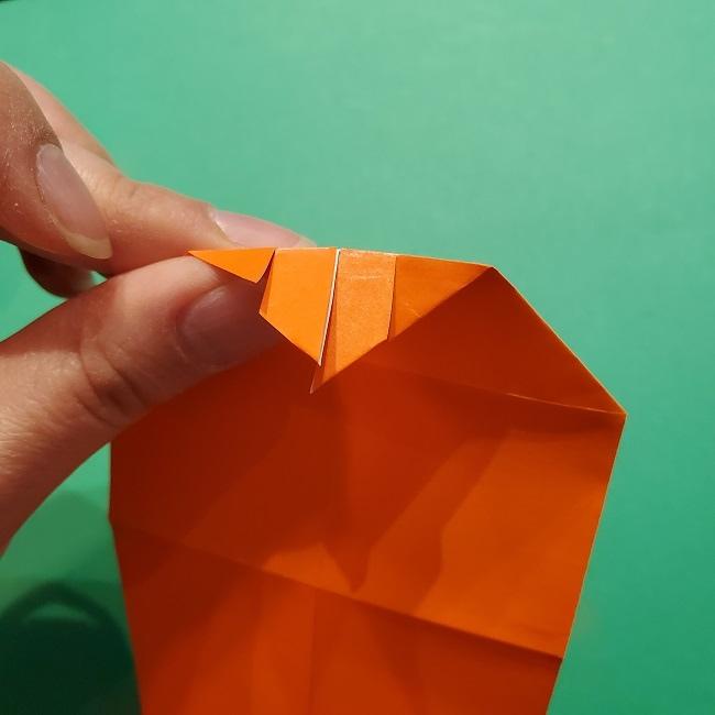 ポニョの折り紙 簡単な作り方折り方2髪 (15)