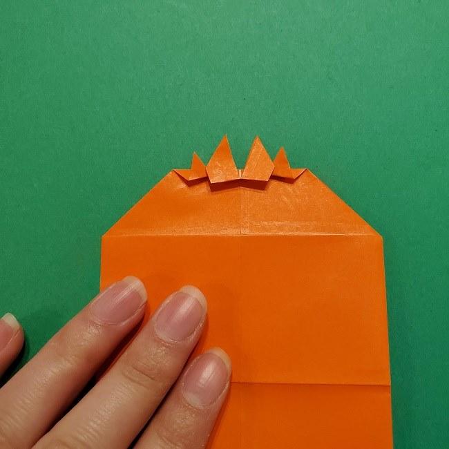 ポニョの折り紙 簡単な作り方折り方2髪 (16)
