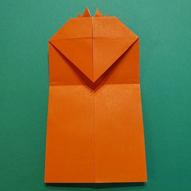 ポニョの折り紙 簡単な作り方折り方2髪 (17)