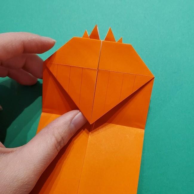 ポニョの折り紙 簡単な作り方折り方2髪 (18)