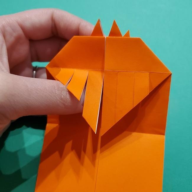 ポニョの折り紙 簡単な作り方折り方2髪 (19)