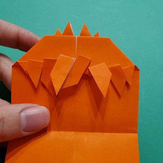 ポニョの折り紙 簡単な作り方折り方2髪 (20)