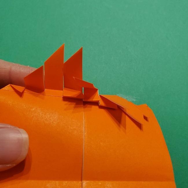 ポニョの折り紙 簡単な作り方折り方2髪 (21)