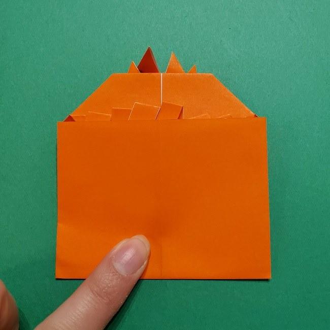 ポニョの折り紙 簡単な作り方折り方2髪 (22)