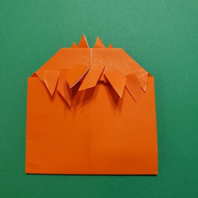 ポニョの折り紙 簡単な作り方折り方2髪 (23)
