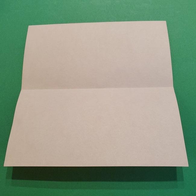 ポニョの折り紙 簡単な作り方折り方2髪 (3)
