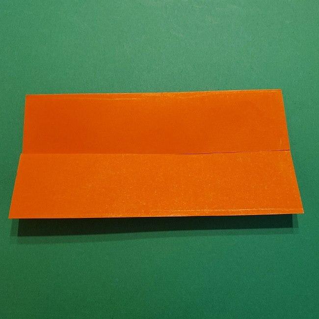 ポニョの折り紙 簡単な作り方折り方2髪 (4)