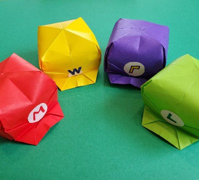 マリオとルイージの帽子(子供用)の作り方☆折り紙や画用紙で手作り簡単♪