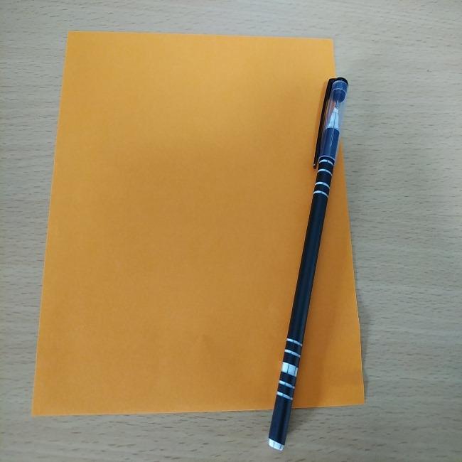 マリオのスターの折り紙:用意するもの