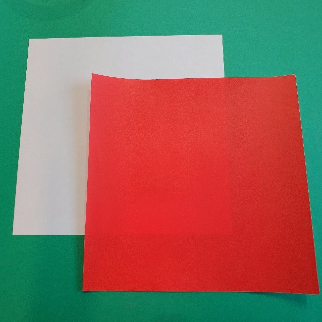 マリオの帽子の作り方(折り紙)*用意するもの (1)