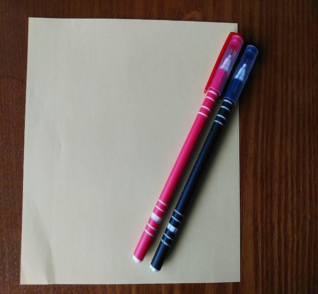 マリオ キノピオの折り紙*用意するもの
