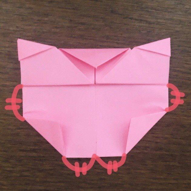 ミュウの折り紙 簡単な折り方作り方 (16)