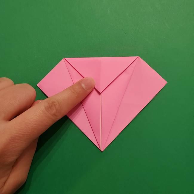ヤドンの折り紙の折り方・作り方(13)