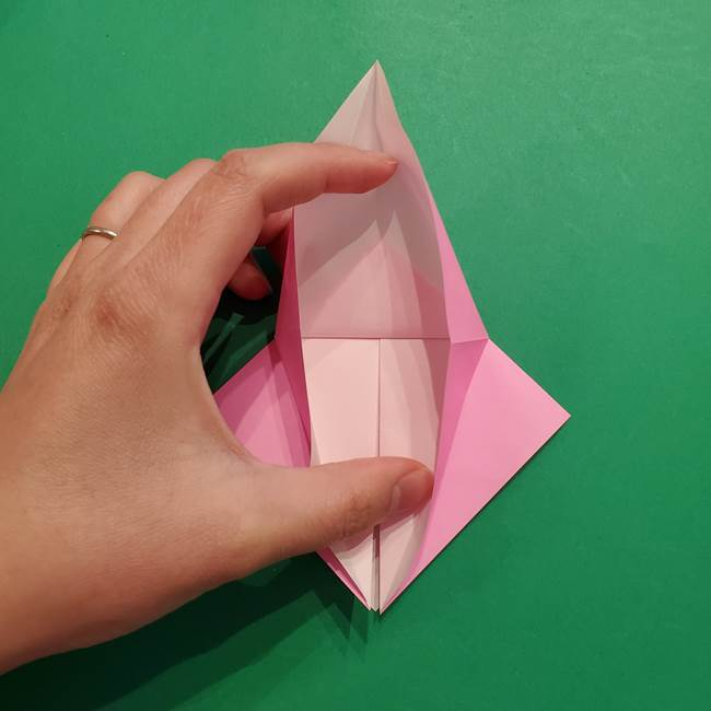 ヤドンの折り紙の折り方・作り方(15)