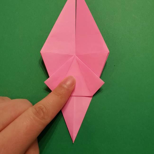 ヤドンの折り紙の折り方・作り方(26)