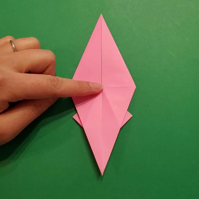 ヤドンの折り紙の折り方・作り方(28)