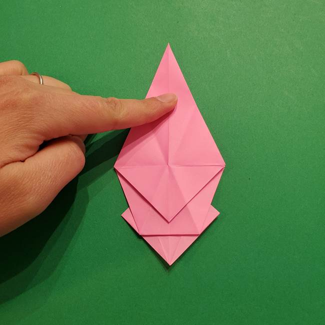 ヤドンの折り紙の折り方・作り方(29)