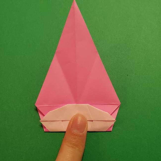 ヤドンの折り紙の折り方・作り方(34)