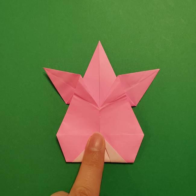 ヤドンの折り紙の折り方・作り方(39)