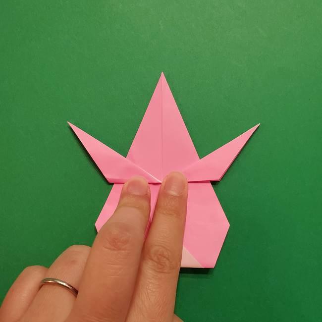 ヤドンの折り紙の折り方・作り方(40)