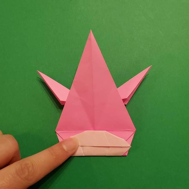 ヤドンの折り紙の折り方・作り方(41)