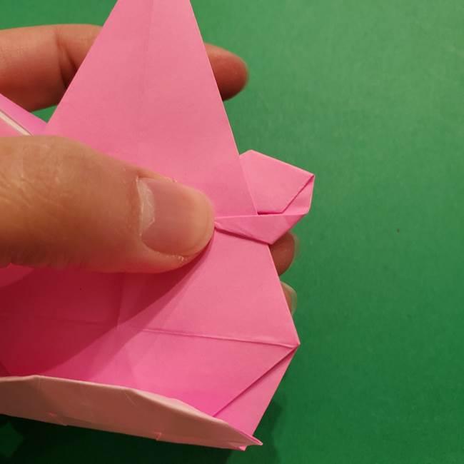 ヤドンの折り紙の折り方・作り方(45)