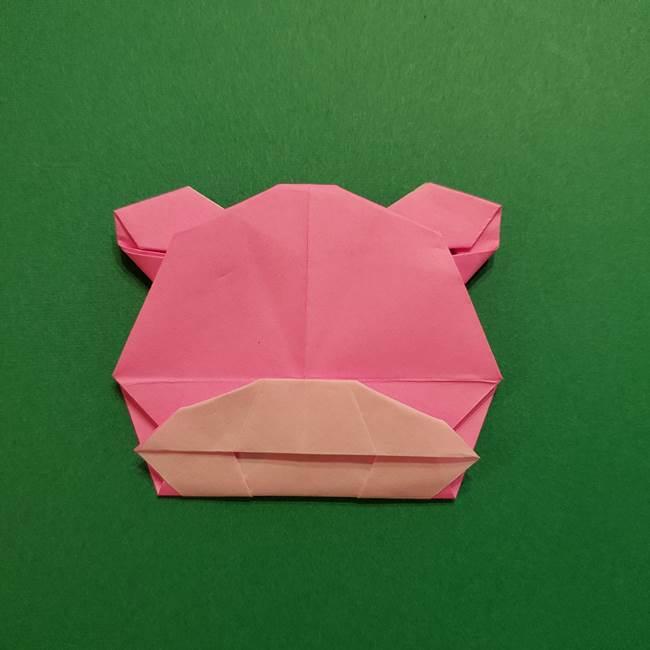 ヤドンの折り紙の折り方・作り方(52)